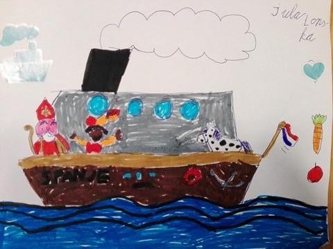 Przybycie Sinterklaasa do Holandii